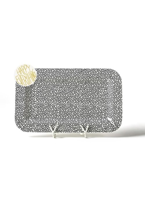 Happy Everything Black Small Dot Mini Entertaining Platter w/ Happy Everything Attachment