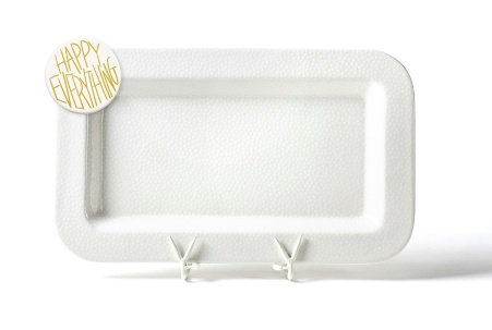 Happy Everything White Small Dot Mini Entertaining Platter w/ Happy Everything Attachment
