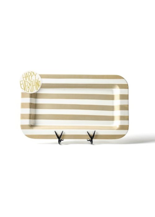 Happy Everything Neutral Stripe Mini Entertaining Platter w/ Happy Everything Attachment