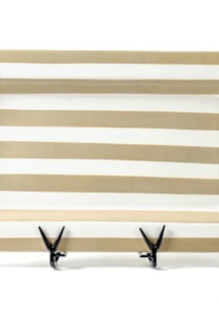 Neutral Stripe Mini Entertaining Platter w/ Happy Everything Attachment