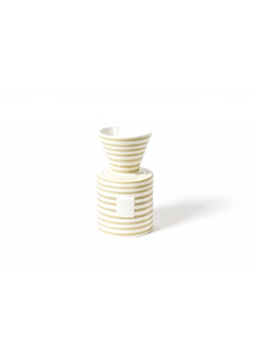 Happy Everything Happy Everything Neutral Stripe Mini Vase