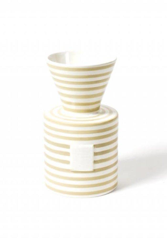 Happy Everything Neutral Stripe Mini Vase