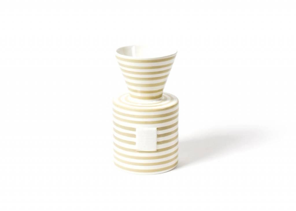 Happy Everything Happy Everything Neutral Stripe Mini Vase