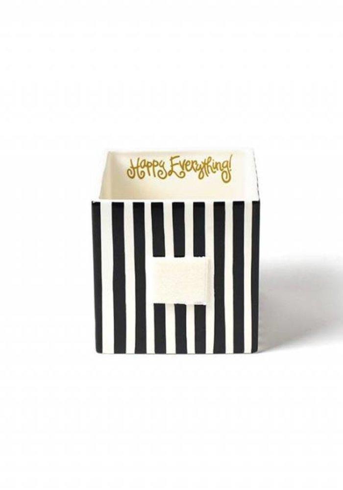 Black Stripe Medium Mini Nesting Cube