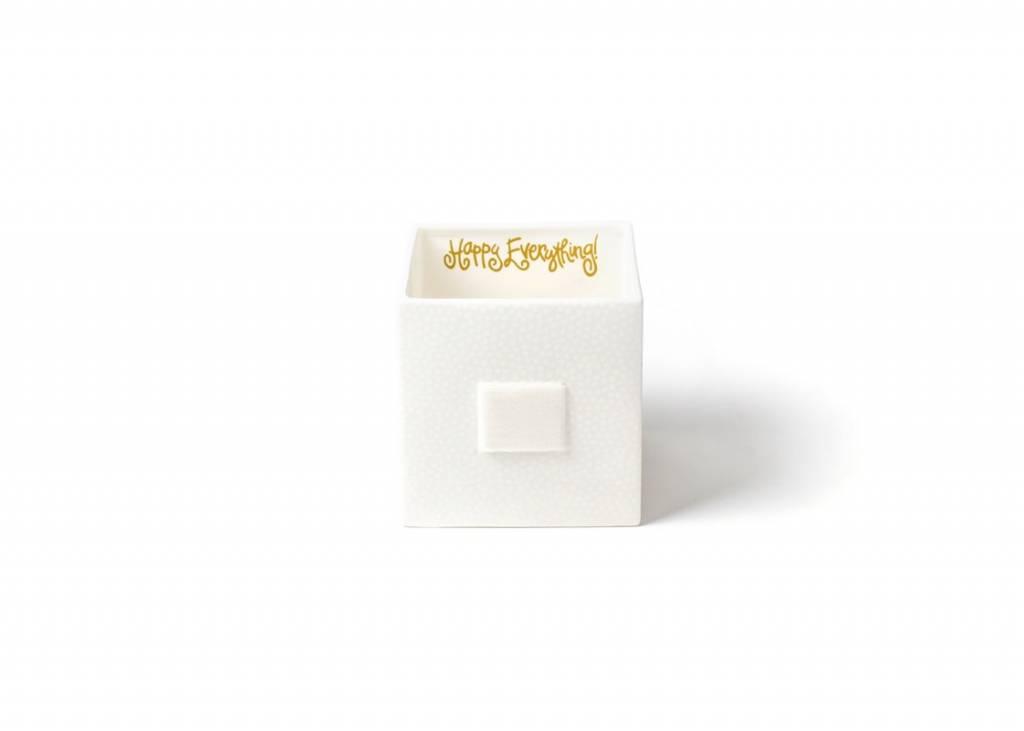 Happy Everything White Small Dot Mini Medium Nesting Cube