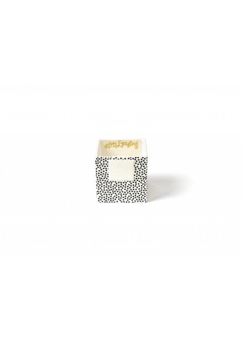 Happy Everything Black Small Dot Small Mini Nesting Cube