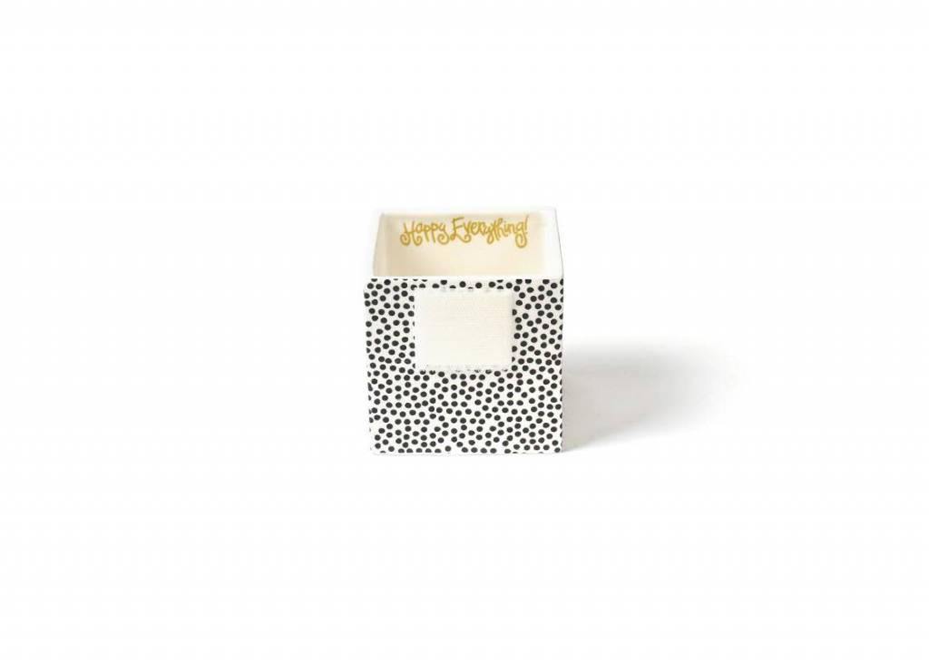Happy Everything Black Small Dot Small Mini Nesting Cube