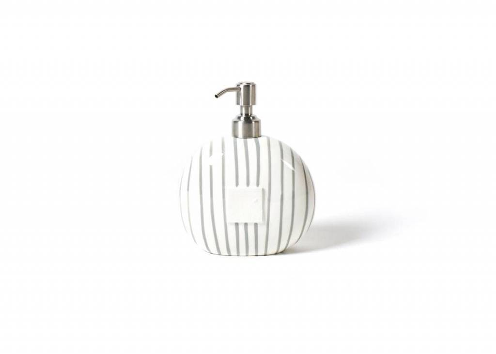 Happy Everything Stone Stripe Mini Soap Pump