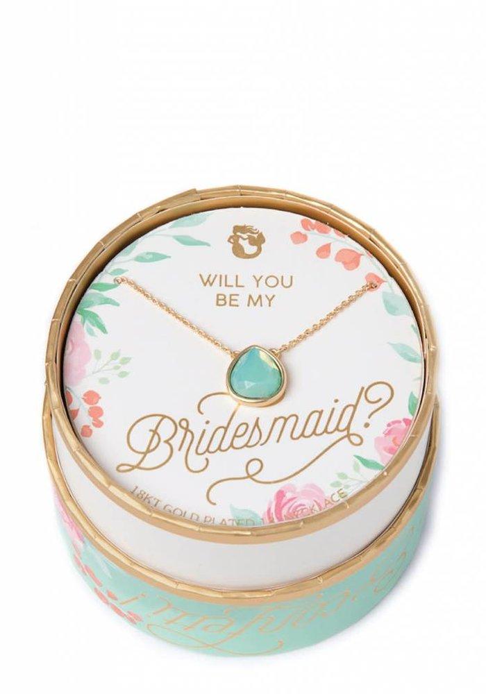 Sea La Vie Bridesmaid Necklace Something Blue