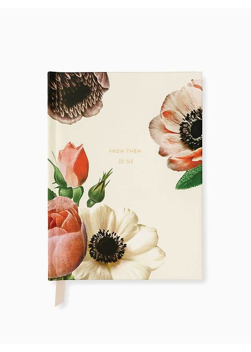 Kate Spade KS Blushing Floral Bridal Gift Log