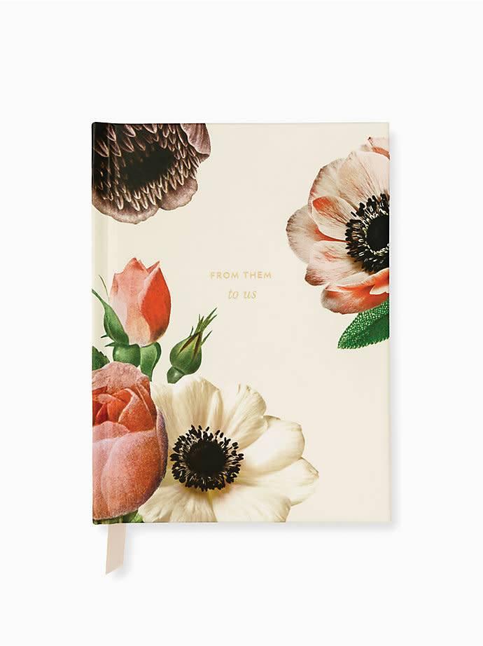 Kate Spade KS Blushing Floral Bridal Gift Log