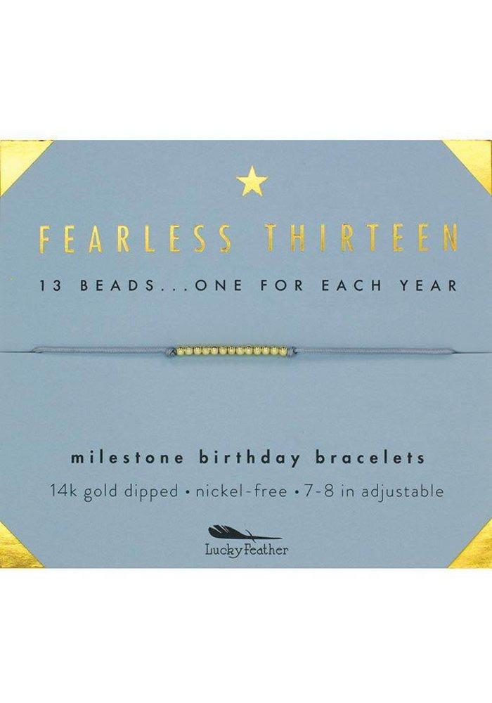 Fearless Thirteen Milestone Birthday Bracelet