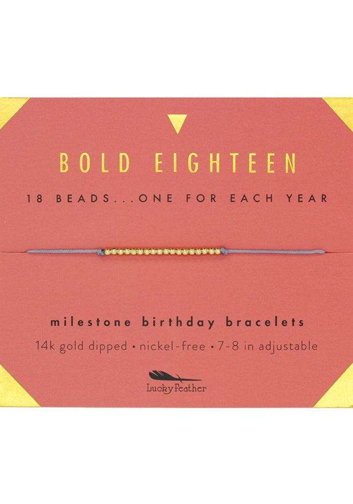 Bold Eighteen Milestone Birthday Bracelet
