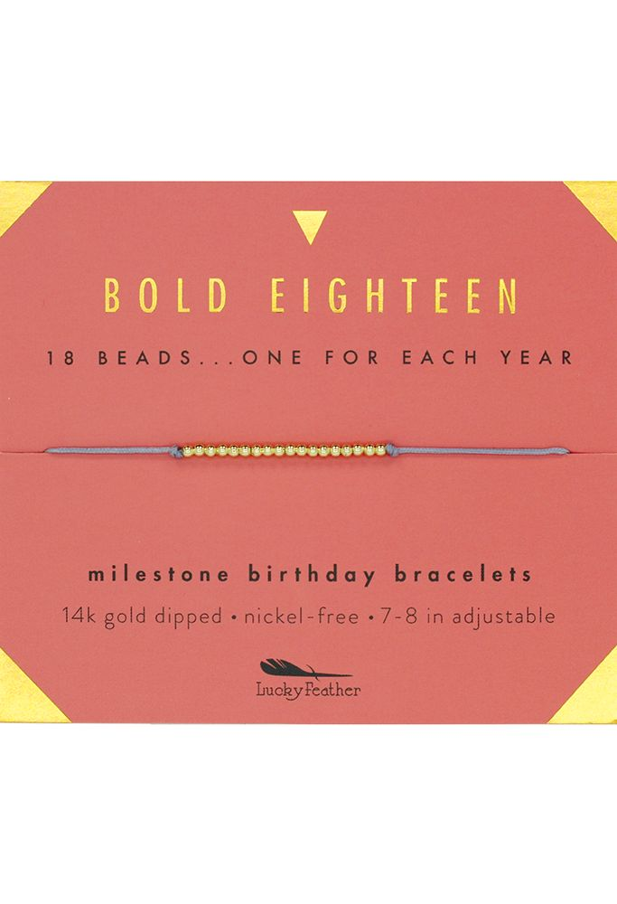 Bold Eighteen Milestone Birthday Bracelet