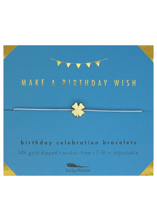 Lucky Feather Birthday Wish Birthday Celebration Bracelet