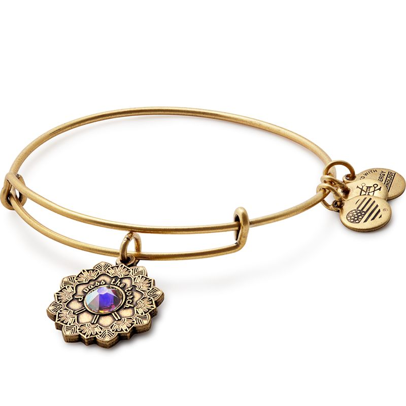 Alex & Ani Alex & Ani Mother of Bride Charm Bangle Gold