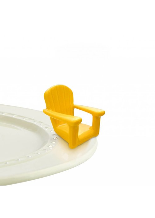 Nora Fleming Chillin' Chair Yellow Adirondack Nora Fleming Mini