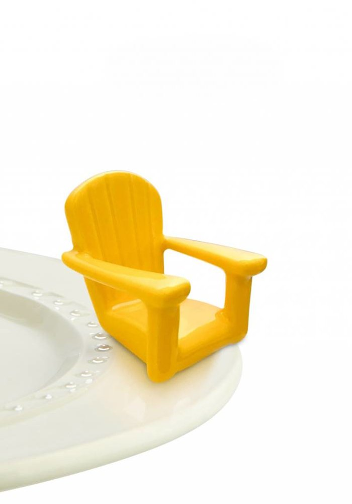 Chillin' Chair Yellow Adirondack Nora Fleming Mini