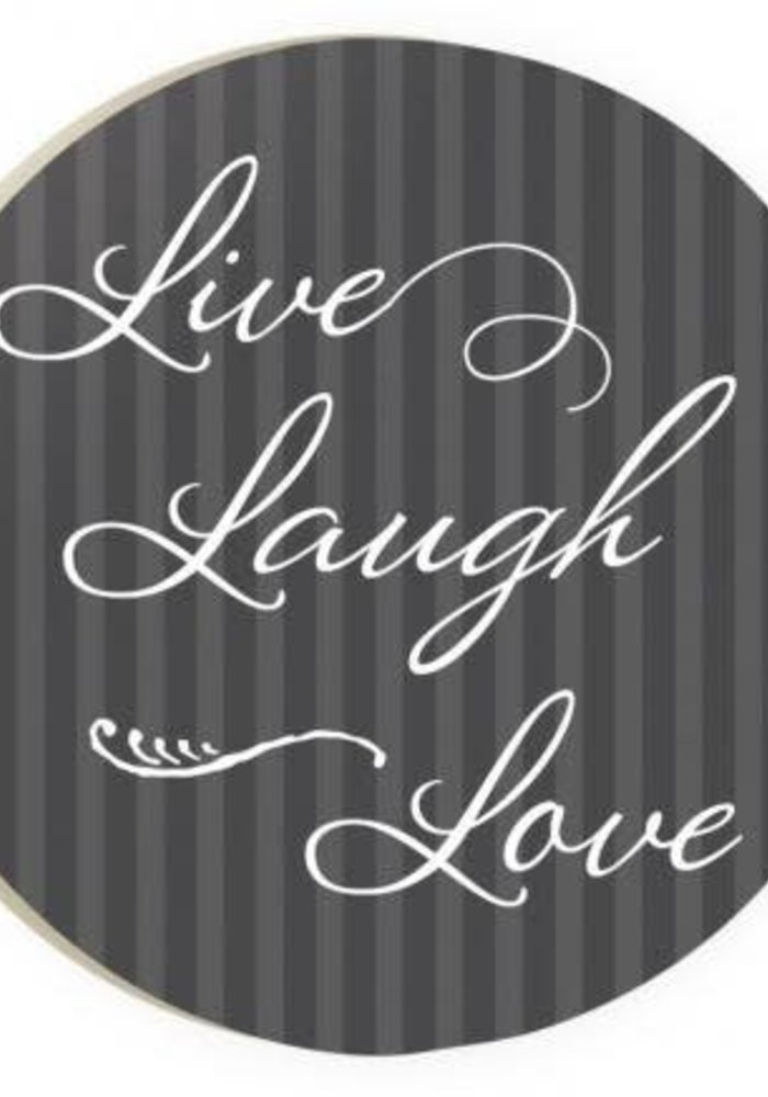 Live Laugh Love Red Car Coaster