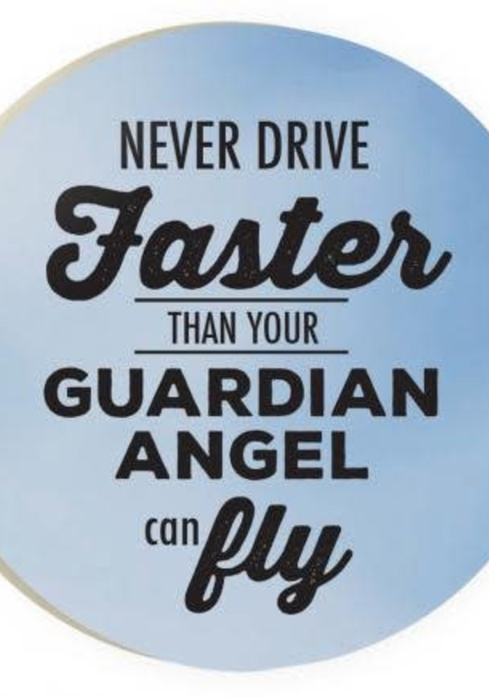 Guardian Angel Red Car Coaster
