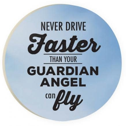 Guardian Angel Red Car Coaster