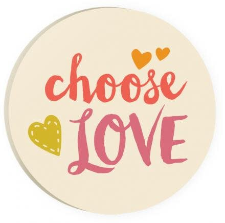 Choose Love Red Car Coaster