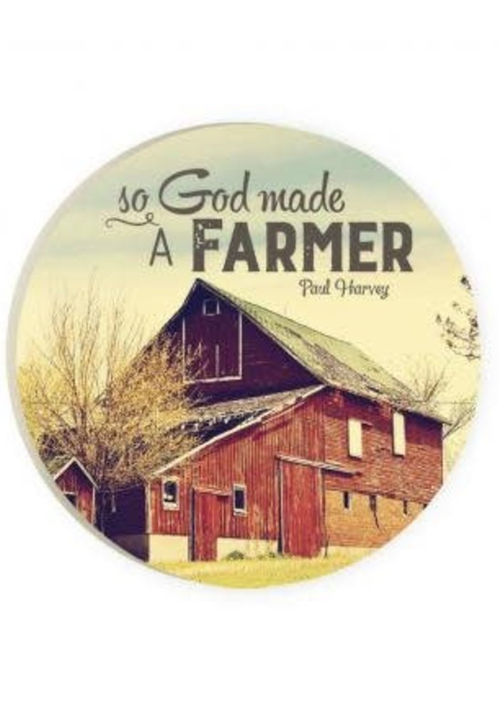 God Made a Farmer Red Car Coaster