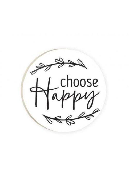 Choose Happy Red Car Coaster