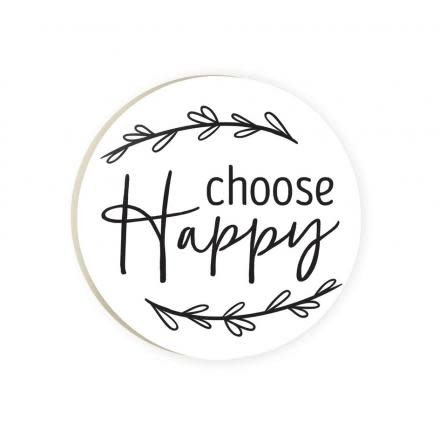 Choose Happy Red Car Coaster