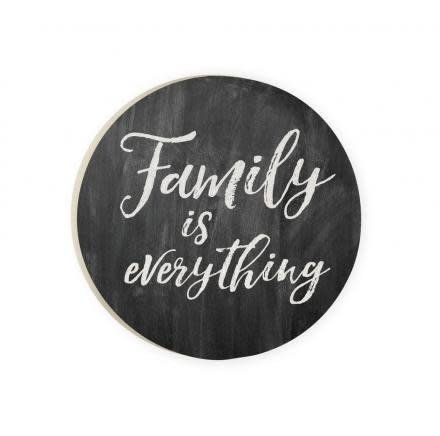 Family is Everything Red Car Coaster