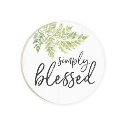 Simply Blessed Red Car Coaster