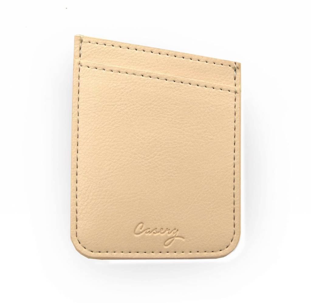 Phone Pocket Beige Leather