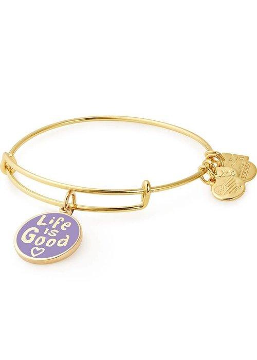 Alex & Ani Alex & Ani Charity by Design Life is Good II Charm Bangle Gold