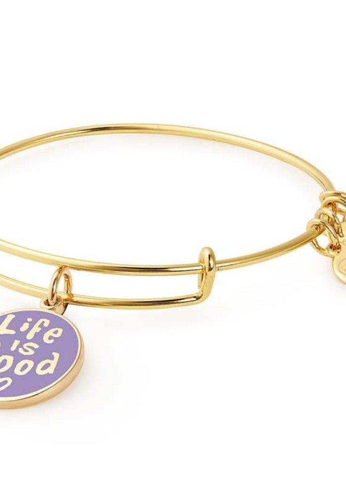 Alex & Ani Charity by Design Life is Good II Charm Bangle Gold