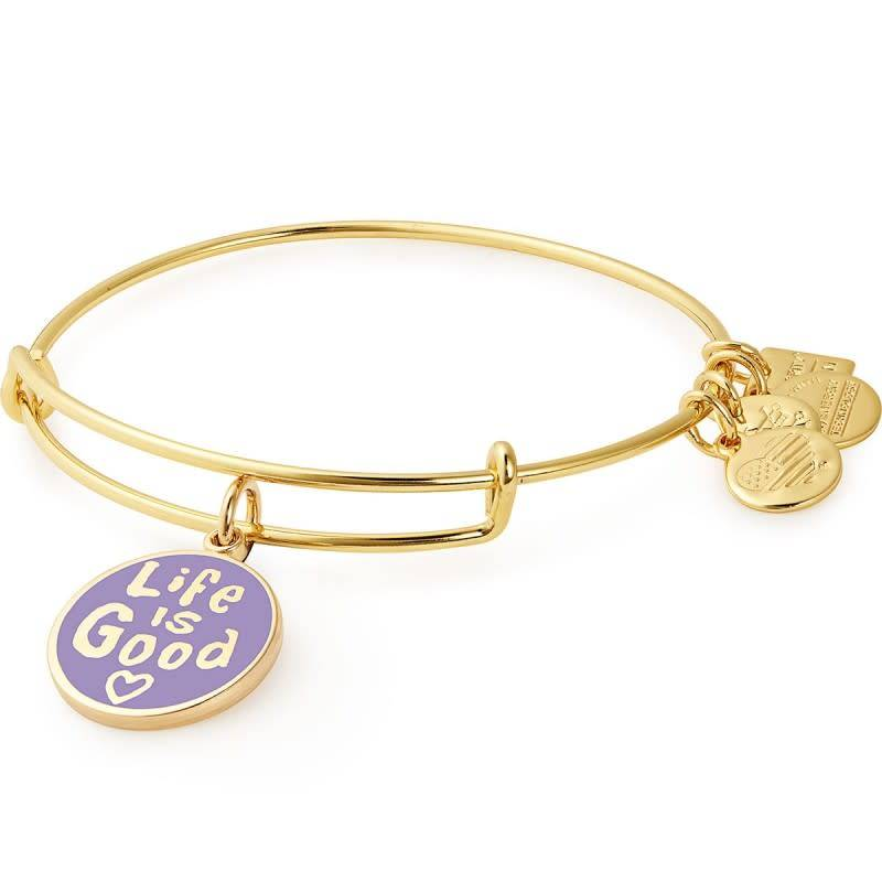Alex & Ani Alex & Ani Charity by Design Life is Good II Charm Bangle Gold