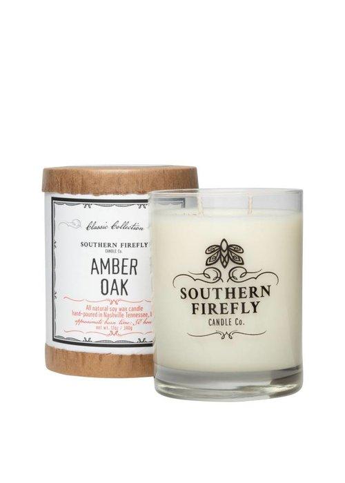 Southern Firefly Amber Oak 14oz Glass Candle