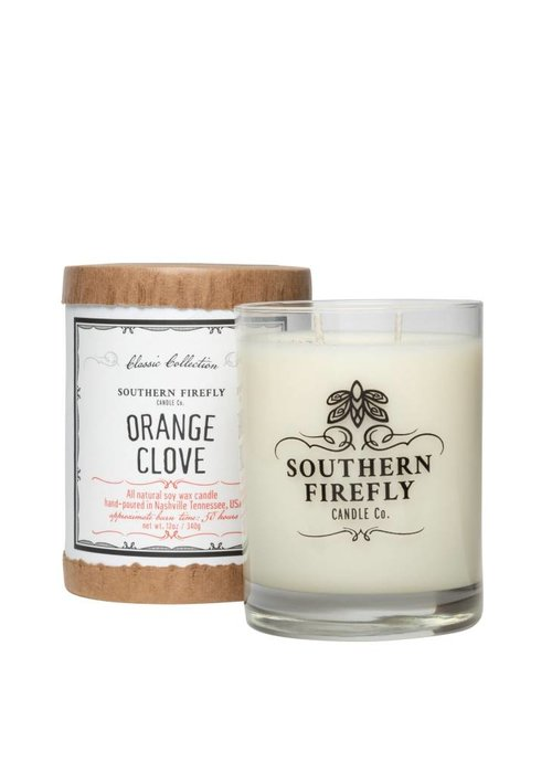 Southern Firefly Orange Clove 14oz Glass Candle