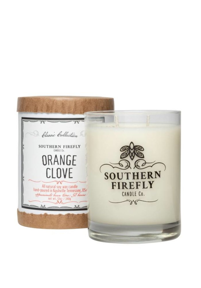 Orange Clove 14oz Glass Candle