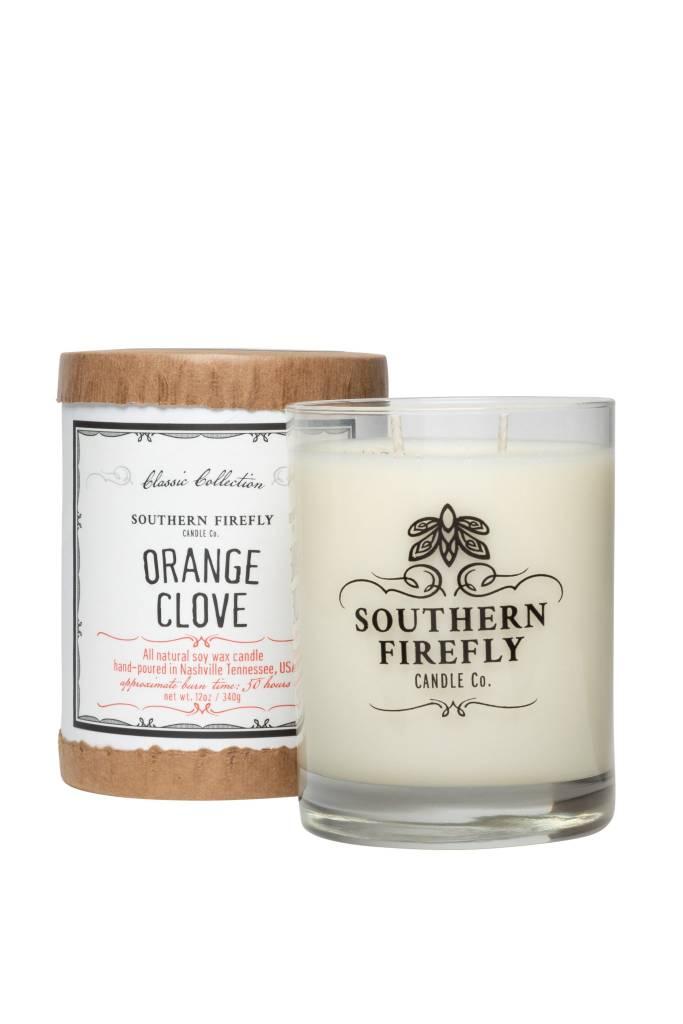 Southern Firefly Orange Clove 14oz Glass Candle