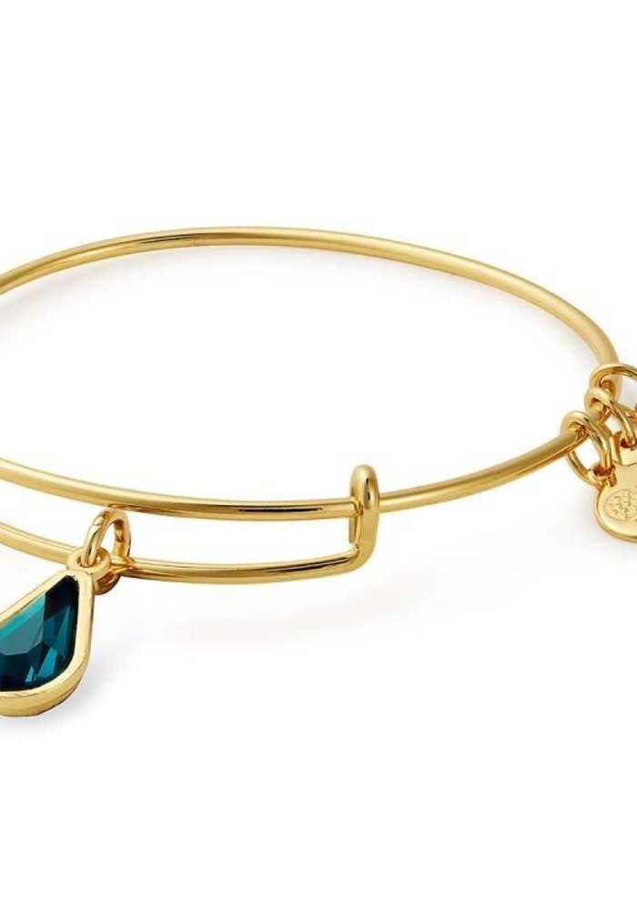 Alex & Ani May Teardrop Charm Bangle Gold