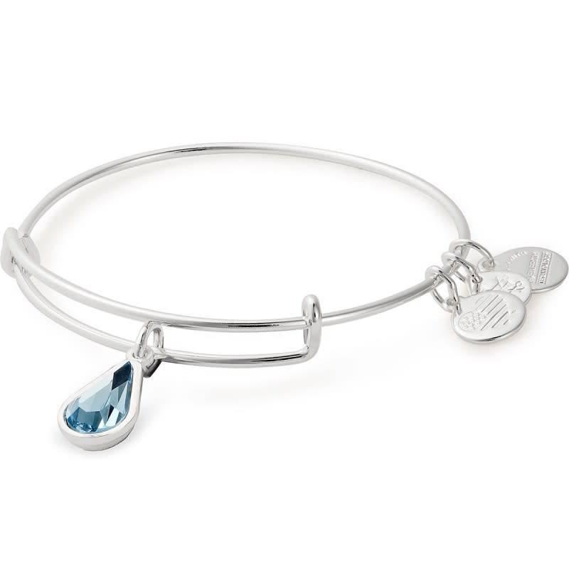 Alex & Ani Alex & Ani March Teardrop Charm Bracelet Silver