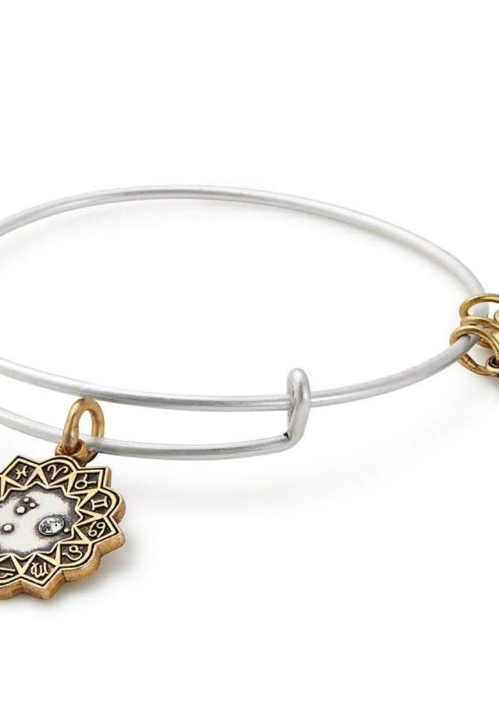 Alex & Ani Aries Two Tone Charm Bangle