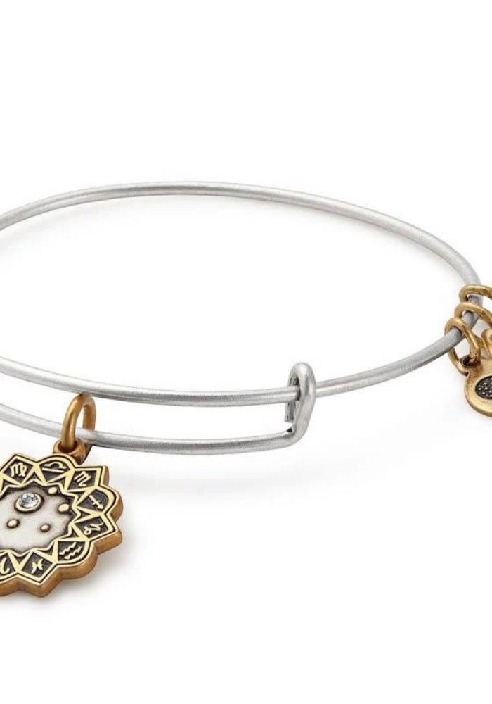 Alex & Ani Libra Two Tone Charm Bangle