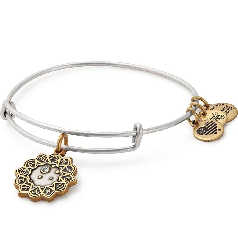 Alex & Ani Alex & Ani Libra Two Tone Charm Bangle