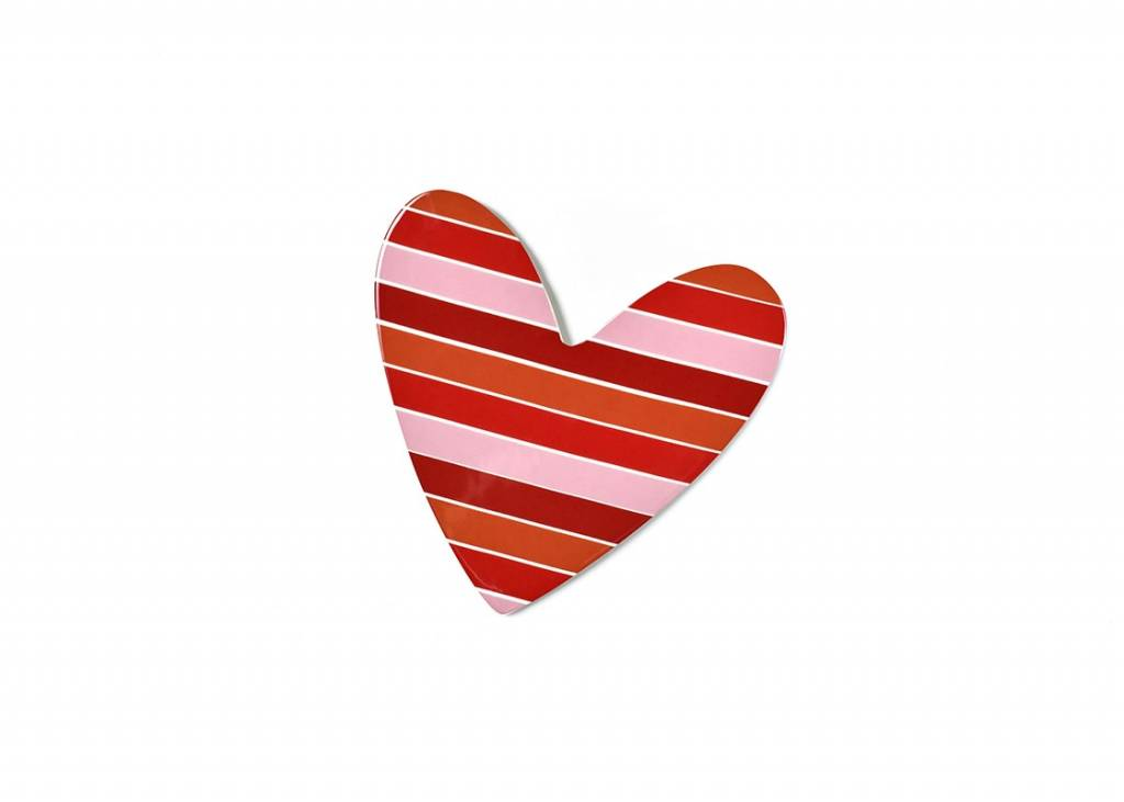 Happy Everything Striped Heart Mini Attachment