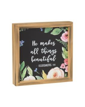 He Makes All Things Beautiful Framed Sign