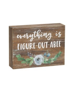 Figure-Out-Able Block Sign
