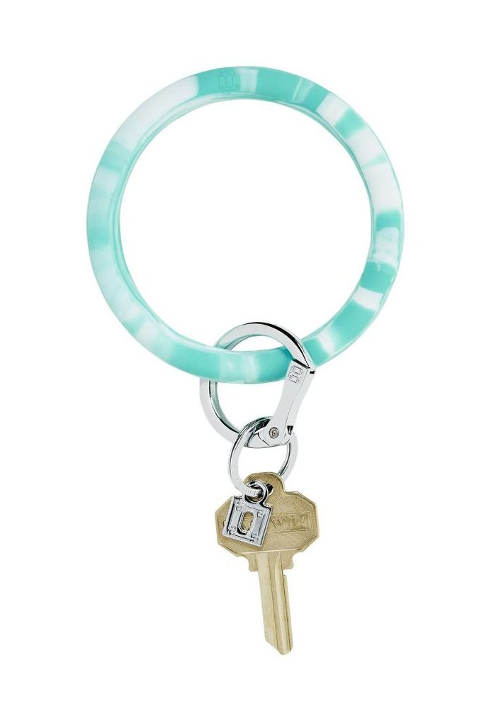 In The Pool Teal Marble Silicone Big O Ring
