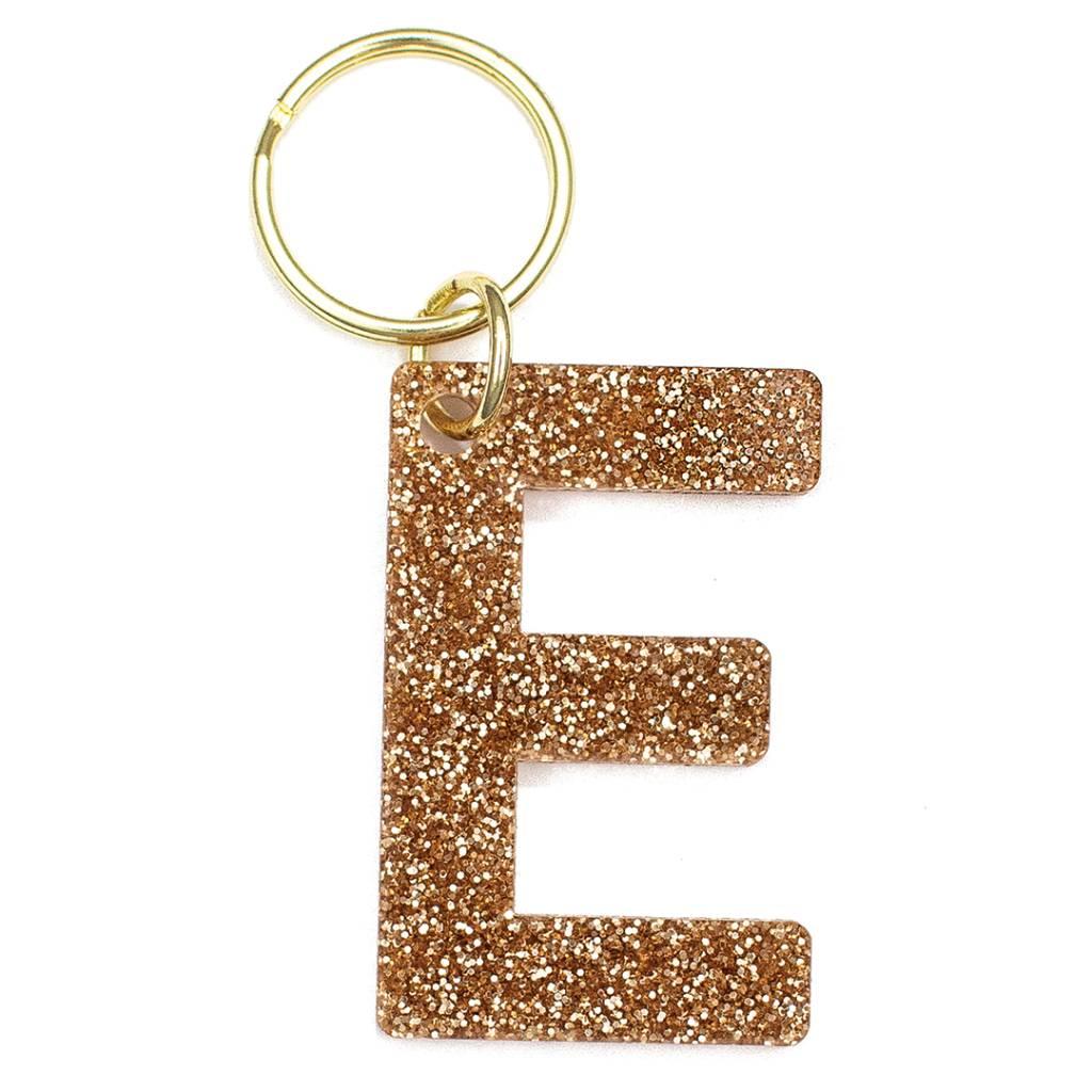 Lucky Feather Glitter Keychain E
