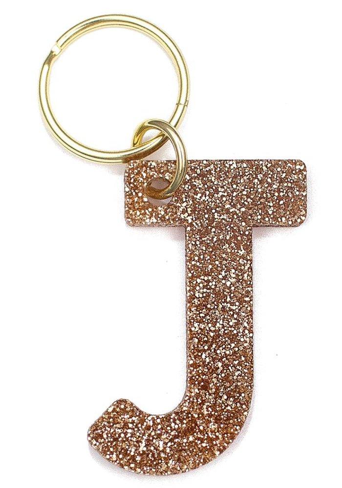 Glitter Keychain J